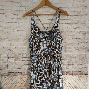 NWOT LOFT Floral Maxi Dress, med